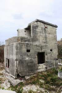 Bribie Island Second World War Fortifications - Southern searchlight (2013); Heritage Branch staff