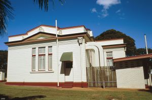 Isis District War Memorial and Shire Council Chambers (2000); Heritage Branch staff