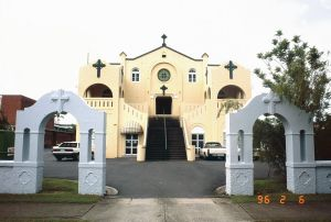 St Monica's Old Cathedral (1996); Heritage Branch staff