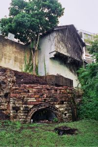 Remains of the Langshaw Marble Lime Works (2003); Heritage Branch staff