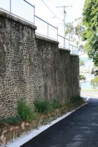 Manly Retaining Wall (2009); Heritage Branch staff