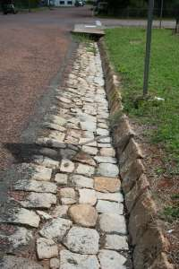 Stone kerbing, channels and footbridges of Charters Towers ; Heritage Branch staff