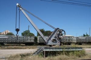 Crane SW of Millchester Road (2006); Heritage Branch staff