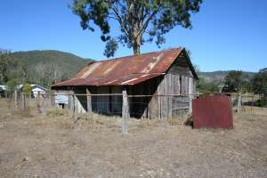 Selector's Hut (former) from NW (2009); Heritage Branch staff