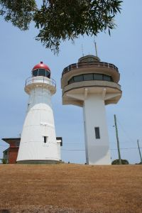 Caloundra Lighthouses (2009); Heritage Branch staff