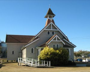 St Michael and All Angels Church (2008); Heritage Branch staff