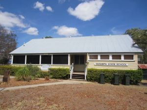 East elevation of the Tarampa State School teaching building (2014); Heritage Branch
