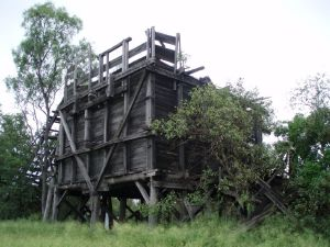 Coal Bin and Inclined Headframe (2008); Heritage Branch staff