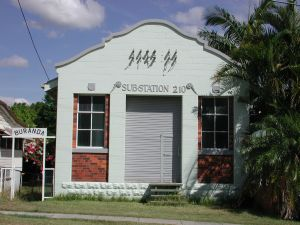 Coorparoo Substation No. 210 ; Heritage Branch staff