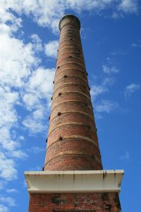 Ross River Meatworks Chimney (2009); Heritage Branch staff