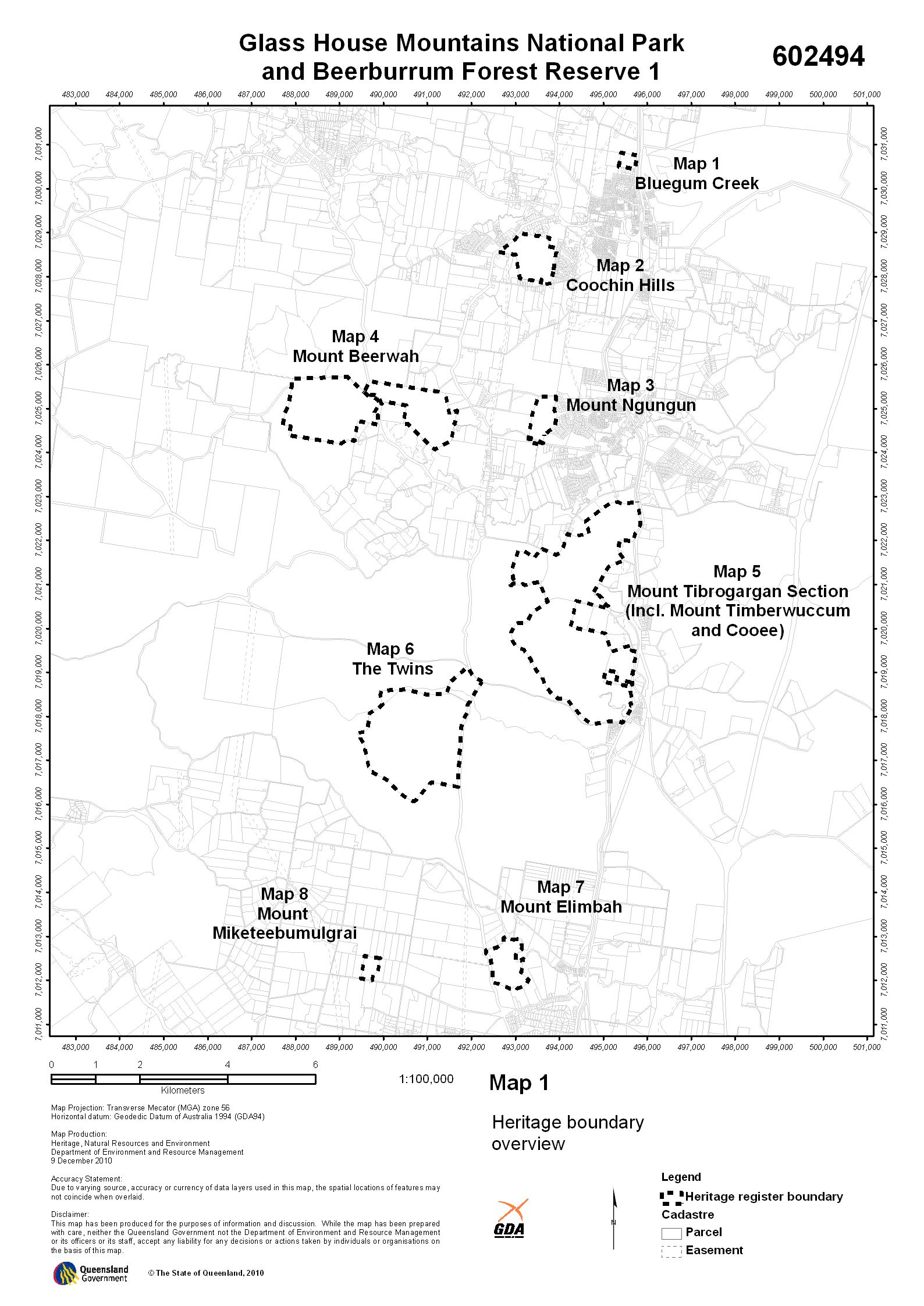 Glass House Mountains National Park and Beerburrum Forest Reserve 1
