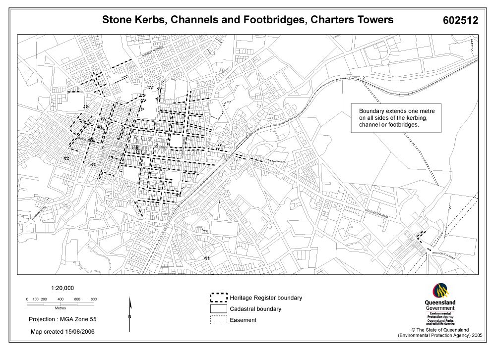 Stone Kerbing Channels And Footbridges Of Charters Towers