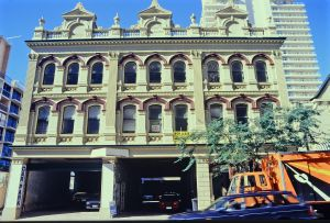 Watson Brothers Building from Margaret St (1996); Heritage Branch staff