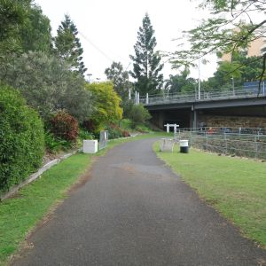 1896 section of South Brisbane Railway Easement (EHP, 2016); Heritage Branch staff