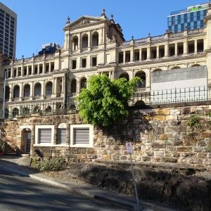 William Street and Queens Wharf Road retaining walls (EHP, 2016); Heritage Branch; EHP