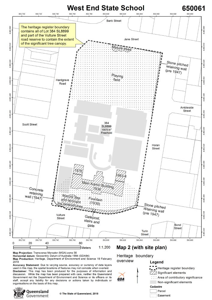 West End State School   Environment, land and water
