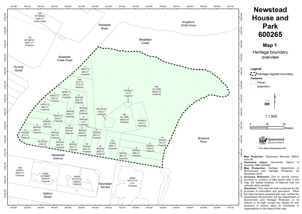 Newstead House and Park   Environment, land and water