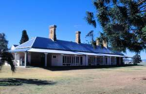 Talgai from south (1995); Heritage Branch staff