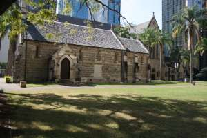 Old St Stephens Church (2013) from W; Heritage Branch staff