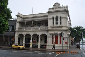 Fortitude Valley Post Office (former) (2009) from South West; Heritage Branch staff