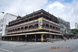 Empire Hotel (2009) from North; Heritage Branch staff