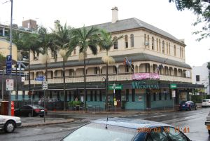 Wickham Hotel from South (2009); Heritage Branch staff