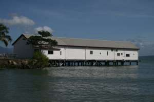 Port Douglas Wharf and Storage Shed (former) (2009); Heritage Branch staff