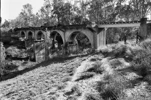 Steep Rocky Creek Railway Bridge (Ideraway) ; Heritage Branch staff