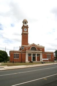 Gympie Court House (2011); Heritage Branch staff