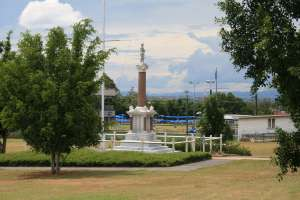 Booval War Memorial, from S (2009); Heritage Branch staff
