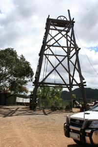 Tyrconnel Mine and Battery (2010); Heritage Branch staff