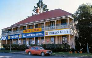 Marburg Hotel, from S (1992); Heritage Branch staff