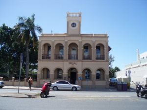 Mackay Town Hall (former) (2009); Heritage Branch staff