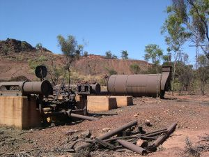 Winding engine and return flue boiler; Lawlor Shaft and Winding Plant (2003); Heritage Branch staff