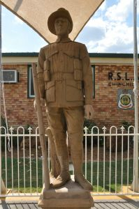 Soldier Statue, Chinchilla (2011); Heritage Branch staff