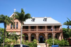 James Cook Historical Museum, from W (2008); Heritage Branch staff