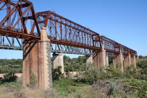 Burdekin River Rail Bridge (former) (2009); Heritage Branch staff
